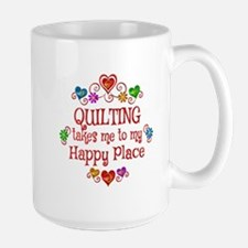 Quilting Happy Place Ceramic Mugs