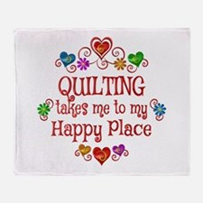 Quilting Happy Place Throw Blanket