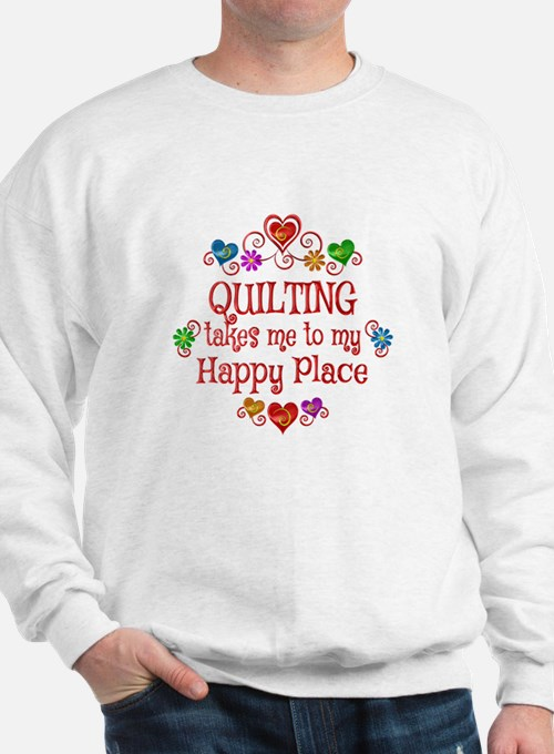 Quilting Happy Place Sweatshirt