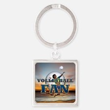 Volleyball Fan Square Keychain
