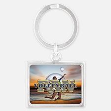 Volleyball Fan Landscape Keychain