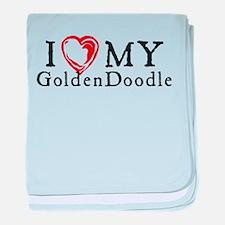 I Heart My Goldenddoodle baby blanket
