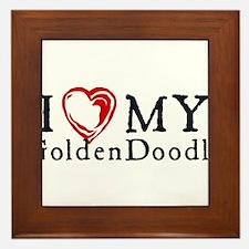 I Heart My Goldenddoodle Framed Tile