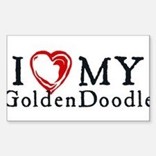 I Heart My Goldenddoodle Sticker (Rectangle)