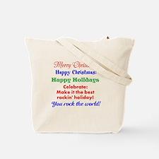 Rockin' Christmas Tote Bag