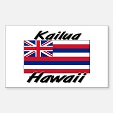 Kailua Hawaii Rectangle Decal