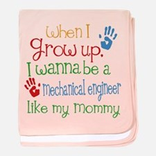 Mechanical Engineer Like Mommy baby blanket