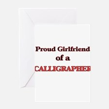Proud Girlfriend of a Calligrapher Greeting Cards
