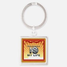 Volleyball is My Life Square Keychain