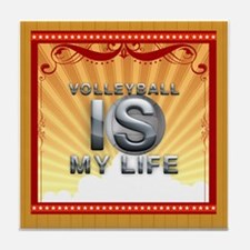 Volleyball is My Life Tile Coaster