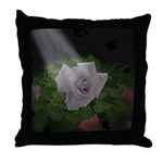 Transfigued Rose Throw Pillow