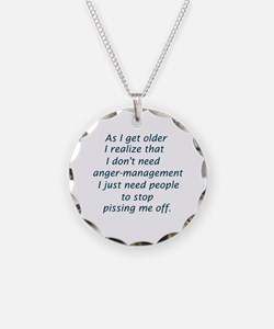 Funny Anger management Necklace