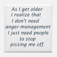 Unique Anger management Tile Coaster