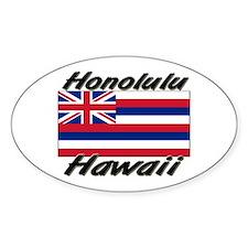 Honolulu Hawaii Oval Decal