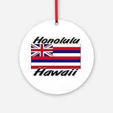 Honolulu Hawaii Ornament (Round)