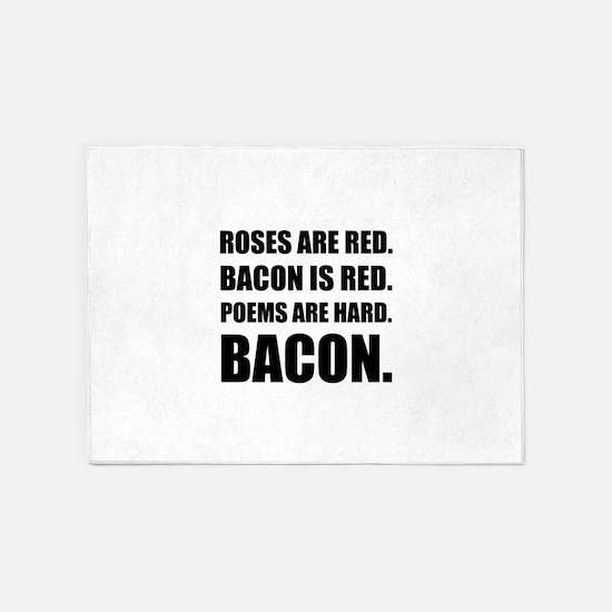 Bacon Poem 2 5'x7'Area Rug