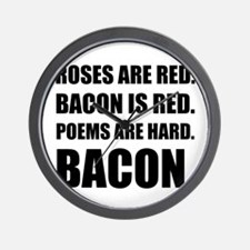 Bacon Poem 2 Wall Clock