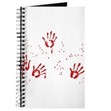 Bloody Handprints - Halloween Journal