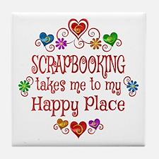 Scrapbooking Happy Place Tile Coaster