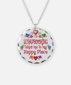 Scrapbooking Happy Place Necklace