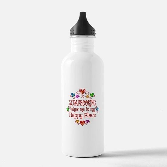 Scrapbooking Happy Pla Water Bottle