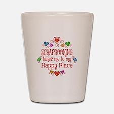 Scrapbooking Happy Place Shot Glass