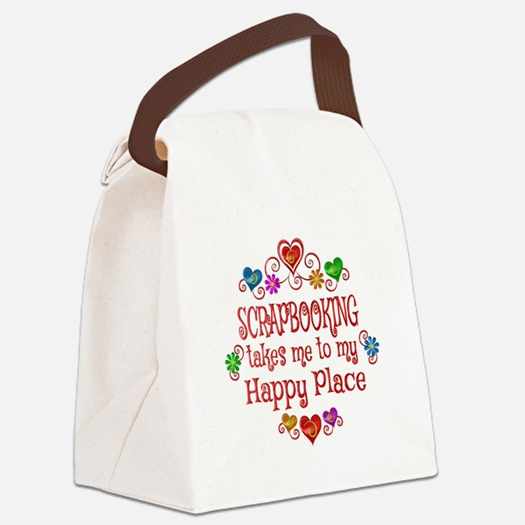 Scrapbooking Happy Place Canvas Lunch Bag