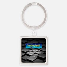 Volleyball Spike Square Keychain