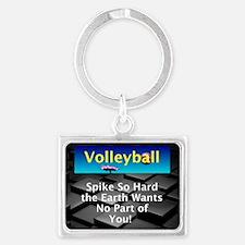 Volleyball Spike Landscape Keychain Keychains