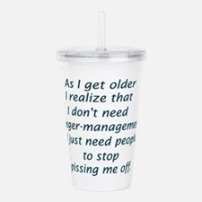 Anger Management Acrylic Double-wall Tumbler