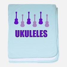 Purple Ukuleles baby blanket