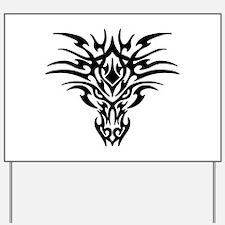 Tribal Dragon Tattoo Yard Sign