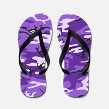 Purple Camouflage Flip Flops