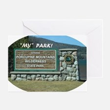 Cool Porcupine mountains Greeting Card