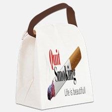 Quit Smoking Canvas Lunch Bag