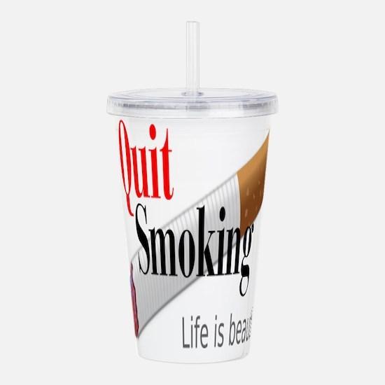 Quit Smoking Acrylic Double-wall Tumbler
