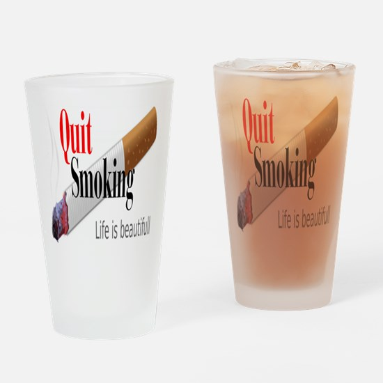 Quit Smoking Drinking Glass