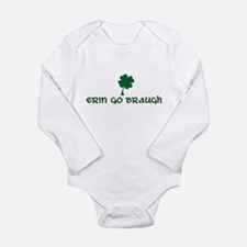 Cute Childrens irish Long Sleeve Infant Bodysuit