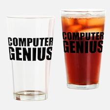 Computer Genius Drinking Glass