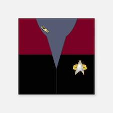 """Voyager Red Maquis Lt Cmdr Square Sticker 3"""" x 3"""""""
