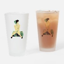 1940's Land Girl Pin Up Drinking Glass
