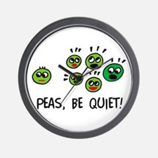 Peas, be quiet! Wall Clock