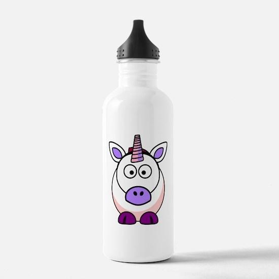 Cartoon Unicorn Water Bottle