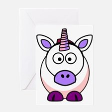 Cartoon Unicorn Greeting Cards