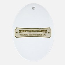 Right Choice Ranch Oval Ornament