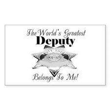World's Greatest Deputy Rectangle Decal