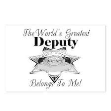 World's Greatest Deputy Postcards (Package of 8)