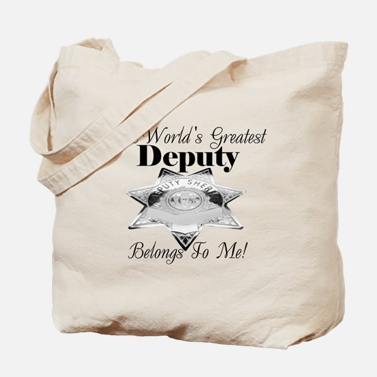 World's Greatest Deputy Tote Bag