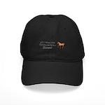 Christmas Horse Black Cap