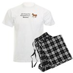 Christmas Horse Men's Light Pajamas